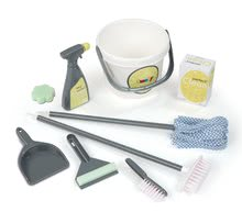 Hry na domácnosť - Set upratovací vozík Clean Service Smoby a žehliaca doska s elektronickou žehličkou Clean_5