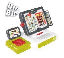 Obchody pre deti - Pokladňa Smoby elektronická s dotykovou obrazovkou, zvukom a 25 doplnkami zelená_1