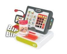 Obchody pre deti - Pokladňa Smoby elektronická s dotykovou obrazovkou, zvukom a 25 doplnkami zelená_2