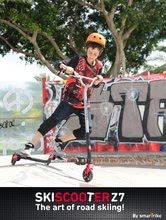 Kolobežky pre mládež - Kolobežka SkiScooter lyžovanie na ceste smarTrike Z7 Red červeno-čierna od 7 rokov_0
