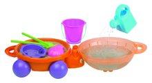 Kbelíky do písku - Beruška do písku s kbelík setem Écoiffier dvoudílná, na kolečkách (průměr 42 cm)_3