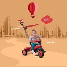 Trojkolky od 10 mesiacov - Trojkolka Carnival Touch Steering 3v1 smarTrike červená od 10 mes_12