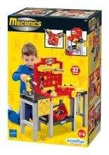 Játék szerelőasztalok - Barkácsműhely Mecanics Écoiffier szerszámokkal 32 kiegészítővel piros 18 hó-tól_0