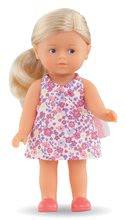 Hračky pro miminka - Panenka Mini Corolline Rosy Les Trendies Corolle s modrýma očima a růžové kytičky na šatech 20 cm od 3 let_0