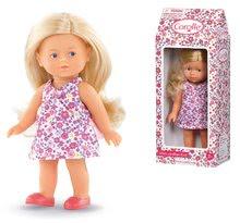 Hračky pro miminka - Panenka Mini Corolline Rosy Les Trendies Corolle s modrýma očima a růžové kytičky na šatech 20 cm od 3 let_2