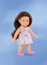 Hračky pro miminka - Panenka Mini Corolline Romy Les Trendies Corolle s hnědýma očima a modré kytičky na šatech 20 cm od 3 let_1