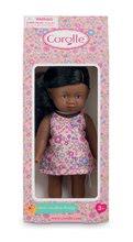 Hračky pro miminka - Panenka Mini Corolline Rosaly Les Trendies Corolle s hnědýma očima a fialové kytičky na šatech 20 cm_1