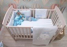 Garnitură de pat bebe Classic toTs-smarTrike pătură, cearşaf şi protector de cap bumbac 100% jersey albastru