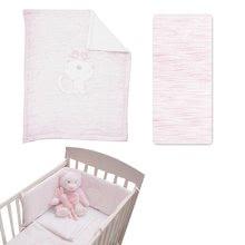 Souprava do postýlky Classic toTs-smarTrike přikrývka, plachta a hnízdo 100% jersey bavlna růžová