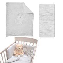 Souprava do postýlky Classic toTs-smarTrike přikrývka, prostěradlo a hnízdo 100% jersey bavlna šedá