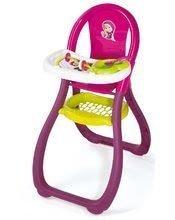 Jedálenská stolička Máša a medveď Smoby pre 42 cm bábiku od 18 mesiacov s doplnkami