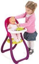 Stoličky pre bábiky - Jedálenská stolička Máša a medveď Smoby pre 42 cm bábiku s doplnkami od 18 mes_0