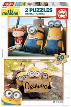 Drevené puzzle Mimoni Educa 2x50 dielov od 5 rokov