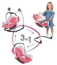 Smoby 3-kombinácia hojdačka, autosedačka a stolička Trio Pastel Maxi Cosi&Quinny pre bábiku 240227