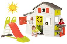Set detský domček Priateľov Smoby poschodový a šmykľavka Toboggan KS s dĺžkou 150 cm