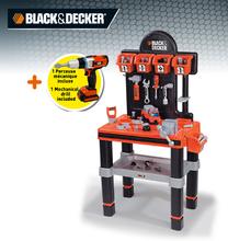 Staré položky - Pracovná dielňa Black&Decker Bricolo center Smoby s mechanickou vŕtačkou a 60 doplnkami_0