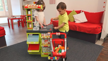 Obchody pre deti - Obchod SuperMarket Smoby s vozíkom a 49 doplnkami_1