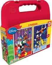 Puzzle pre deti Mickey Mouse Club House Educa v kufríku 2x20 dielov