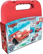 EDUCA 16506 progressive 4 puzzles Cases - CARS Ice Racers 25, 20, 16, 12 dielikov od 24 mesiacov
