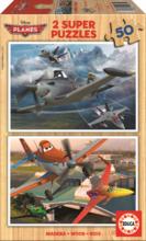 Drevené puzzle Lietadlá Educa 2x 50 dielov od 5 rokov