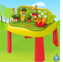 Staré položky - Set šmykľavka Máša a medveď Smoby Toboggan XS dĺžka 90 cm a stôl Záhradník De Jardinage 2v1 od 24 mes_21