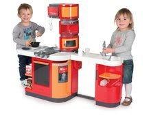 Elektronické kuchynky - Kuchynka CookMaster Smoby elektronická so zvukmi a 33 doplnkami červeno-oranžová_0
