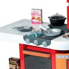 Elektronické kuchynky - Kuchynka CookMaster Smoby elektronická so zvukmi a 33 doplnkami červeno-oranžová_1