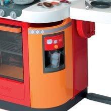 Elektronické kuchynky - Kuchynka CookMaster Smoby elektronická so zvukmi a 33 doplnkami červeno-oranžová_2