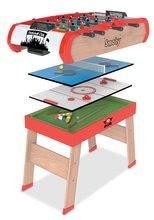 Futbalový stôl Power Play 4v1 Smoby multifunkčný od 8 rokov