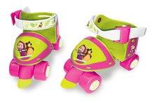 Detské kolieskové korčule - Kolieskové korčule Máša a medveď Smoby s chráničmi a nastaviteľnou veľkosťou_3