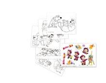Tabule a lavice sety - Set školská lavica Máša a medveď Smoby s 20 doplnkami a výtvarný set v kufríku so 60 doplnkami od 24 mes_3