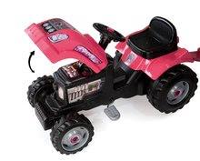 Detské šliapacie vozidlá - Traktor GM Fille Smoby ružový s prívesom_0