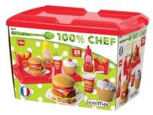 Kuchynky pre deti sety - Set kuchynka Tefal French Touch Bublinky&Voda Smoby s magickým bublaním, hamburger set a košík s potravinami_24