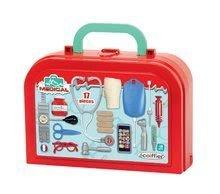 Hry na domácnosť - Set upratovací vozík s elektronickým vysávačom Vacuum Cleaner Smoby a lavica s obojstrannou tabuľou alekárskym kufríkom_8