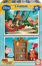 Gyerek puzzle Jake és Sohaország kalózai Educa 2x48 db