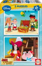 Gyerek puzzle Jake és Sohaország kalózai Educa 2x20 db