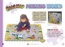 Pěnové puzzle - Pěnové puzzle Safari zvířátka Lee 81 dílů 92*92*1,4 cm od 0 měsíců_0