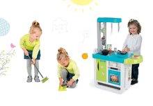 Kuchynky pre deti sety - Set kuchynka Cherry Kitchen Smoby so zvukmi a kávovarom, vozíkom, vysávačom a upratovacie pomôcky 3v1_21