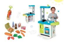 Kuchynky pre deti sety - Set kuchynka Cherry Kitchen Smoby so zvukmi a kávovarom a potraviny v sieťke Bubble Cook_16