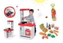 Set kuchyňka pro děti Bon Appétit Smoby se zvuky a kávovarem a potraviny v síťce Bubble Cook