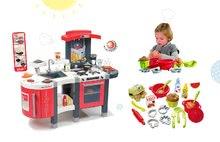 Smoby 311300-24 set červená kuchyňka Tefal Superchef s grilem a Écoiffier kuchyňská souprava na vaření a pečení