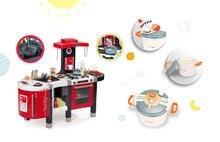 Smoby 311203-4 set červená kuchyňka Tefal French Touch Bublinky&Voda a tlakový hrnec Tefal
