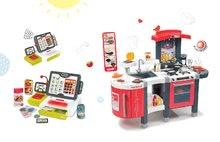 Smoby 311300-20 set červená kuchyňka Tefal Superchef s grilem a elektronická dotyková pokladna