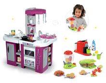 Set kuchynka pre deti Tefal Studio XL Smoby so zvukom a vaflovač s mixérom, kávovarom a vaflami
