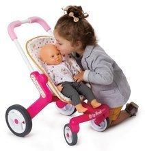 Bábiky s doplnkami sety - Set bábika Minikiss Smoby 27 cm, jedálenská stolička, kolíska s baldachýnom a kočík pre bábiku (53,5 cm rúčka) od 18 mes_13