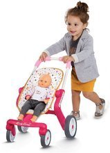 Bábiky s doplnkami sety - Set bábika Minikiss Smoby 27 cm, jedálenská stolička, kolíska s baldachýnom a kočík pre bábiku (53,5 cm rúčka) od 18 mes_8