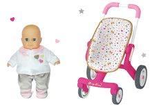 Set cărucior cu roţi pivotante Baby Nurse Smoby şi păpuşă de jucărie CADOU