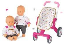 Set cărucior Baby Nurse Smoby şi păpuşă Baby Nurse 32 cm de la 18 luni
