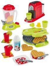 Posodice in dodatki za kuhinje - Opekač za vaflje z mešalnikom in kavomatom Small Household Appliances Ecoiffier s palačinkami in 24 dodatki od 18 meseca_1