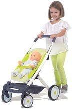 Kočíky od 18 mesiacov - Kočík pre bábiku Maxi Cosi & Quinny Smoby športový (66 cm rúčka) zeleno-šedý_0